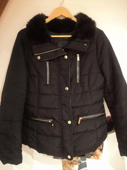 Reserved fekete meleg kabát 04140a70c6