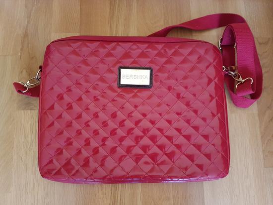 3795da3a7818 Bershka piros lakk steppelt nagy laptop táska, Budapest ...