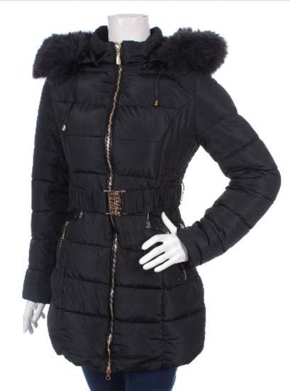 3ddfab6452 Új Black&Fish gyönyörű fekete öves prémes kabát S , Eger ...
