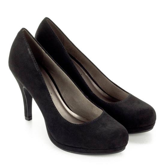 Tamaris fekete cipő, Debrecen gardrobcsere.hu