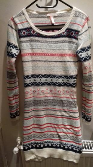Bershka téli mintás kötött ruha 105b11485c