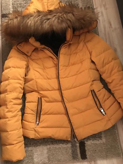 ZARA mustársárga téli kabát !!PK val az árban!!, Debrecen