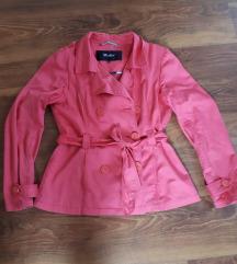 Magenta színű átmeneti kabát 42