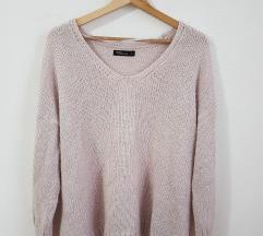 Takko rózsaszín kötött pulóver XL-es