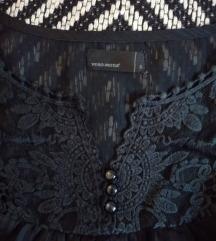 Fekete luxus selyem ing