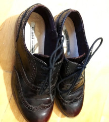 Pull and bear oxford bordó cipő