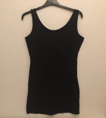 Fekete ujjatlan miniruha