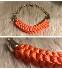 Narancssárga kötél/zsinór nyaklánc