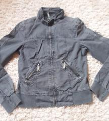 Sötétszürke női M-es rövid dzseki
