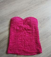 Rózsaszín testhezálló felső
