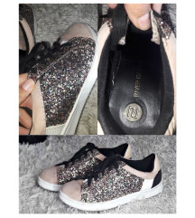 River Island glitteres cipő
