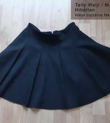 Fekete A-vonalú szoknya
