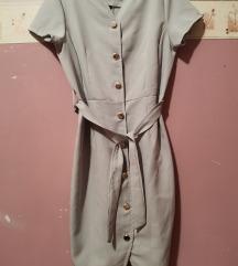 Halványszürke business ruha