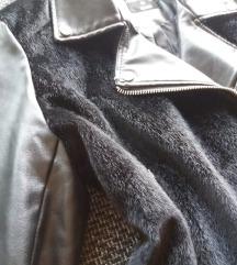 Szőrös/bőr kabát