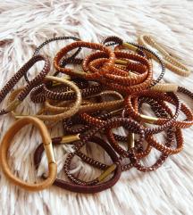 Hatalmas új földszínű (barna) hajgumi csomag ❤