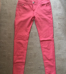 Rózsaszín rugalmas nadrág M