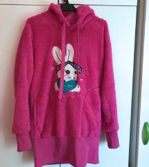 M-es pink wellsoft kapucnis pulóver