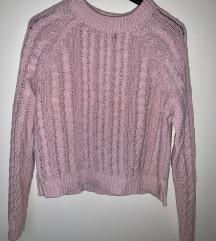 H&M halvány rózsaszín kötött pulóver