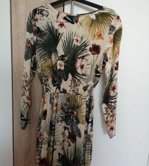 H&M rövid, darázsolt ruha - 38