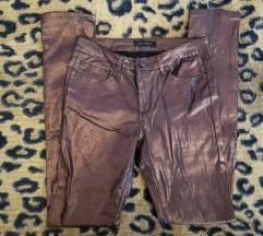 Amisu fényes bronz színű nadrág S