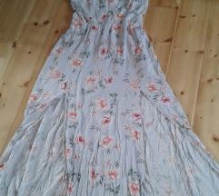 Romantikus felsliccelt pántos maxi ruha