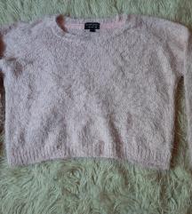 Crop rózsaszín pulcsi