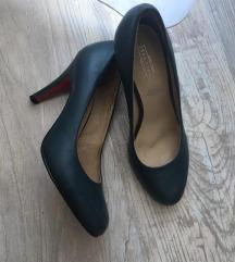 BŐR Magassarkú cipő