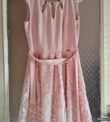 Rouge púder színű alkalmi ruha