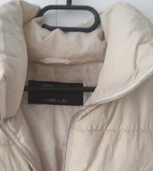 Bézs pufi kabát xxs