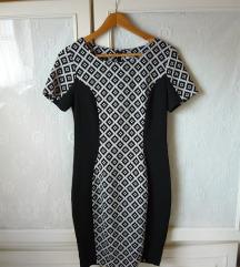 ❤ Újsz fekete fehér bodycon alkalmi mini ruha