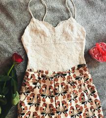 Csipkés body és vintage short