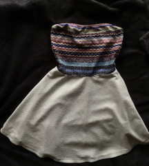 Pánt nélküli, mintás ruha