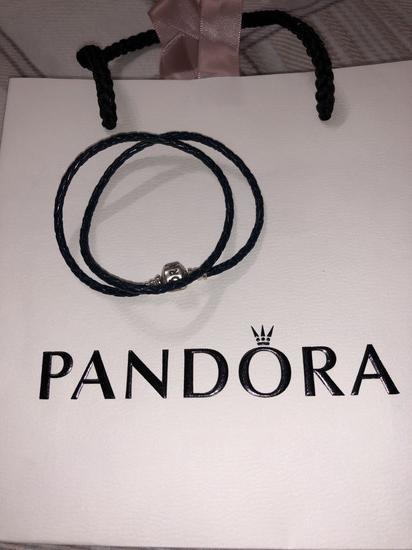 Pandora bőr karkötő