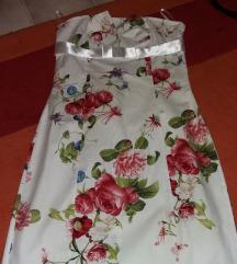 Nyári virágos, elegáns ruha
