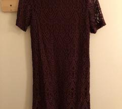 Bordó csipke ruha