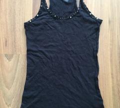 Bershka fekete szegecses trikó