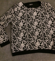fekete fehér pulcsi M