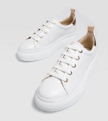 Stradivarius fehér platform cipő