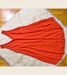 Piros lenge A vonalú ruha