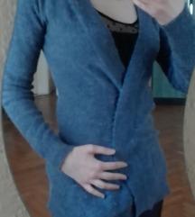 Kék zsebes kardigán