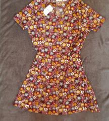 Papaya virágos ruha