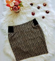 Amisu leopárd mintás mini szoknya XS