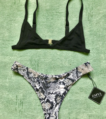 Eladó címkés kigyó mintás zaful bikini