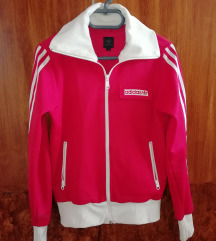 Eredeti Adidas női melegítő felső piros S-es
