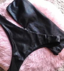 fekete csillogós bikini