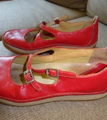 Korallpiros Clarks bőrcipő 37-es