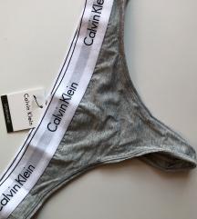 Szürke Calvin Klein tanga L-es