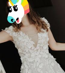 36-os hófehér menyasszonyi ruha