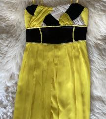 Yoshe sárga egyedi butik ruha esküvő M 38