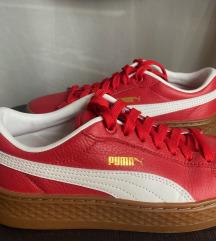 Piros Puma platform bőr sneaker